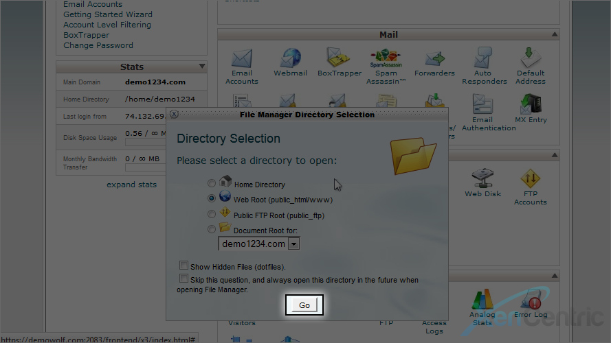 How to use File Manager in cPanel - XenCentric Hosting